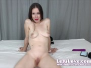 Big Surprise Made Me Scream Out In This Webcam Live Show & That was BEFORE My FOUR Orgasms!! :) - Lelu Love