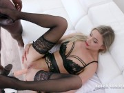 PRIVATE com - Stunning Babe Polina Maxim Gets DPd By 2 Big Black Cocks!