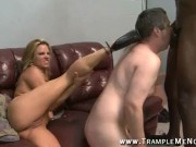 Slut Wife Milf Bisexual Cuckold Pussy Creampie Eating cock Worship And Coerced Big Black Cock sucking and fucking cock sucker