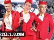 Clea Gaultier Lucy Heart Nesty fuck in a plane (DORCEL TRAILER)