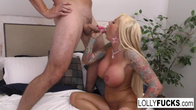 Lolly Ink gets a big facial from Aaron!