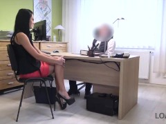 LOAN4K. Hottie is ready for dirty sex to pay taxes for a picture