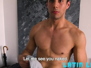 Horny Guys Fuck Cute Latino In The Bathroom