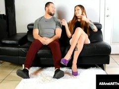 Butt Torn Up Stunner Maria Marley Gets Her Taut Bunghole Crammed As Man Looks On