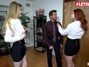 ScamAngels - Bunny Colby & Lacy Lennon Big Tits American Sluts Hardcore Fuck With Their Horny Boss