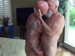 Nasty Dads Rim and Fuck Each Other's holes.