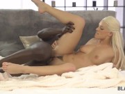 BLACK4K. Blonde dollface needs nothing more but a giant black penis