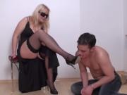 richie must worship her stocking feet