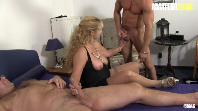 XXX OMAS - German Big Tits Mature Wife Cheats and Fucks Two Young Studs
