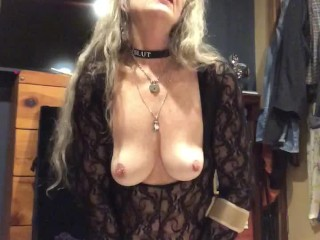 Mature Horny Milf Long Hair Fucking Pussy With Huge Dildo-HOT! Loud