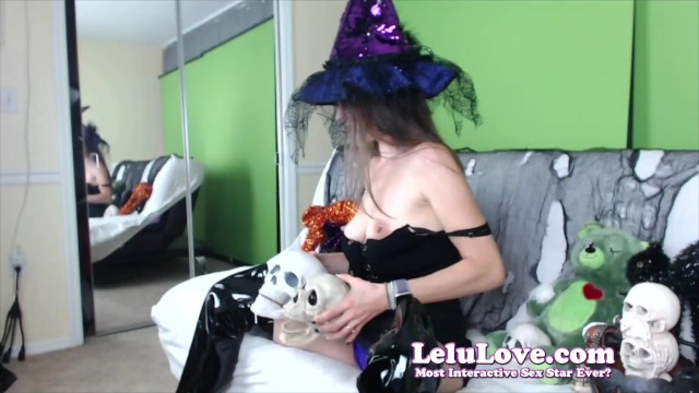 Naked live cam babe transforms into witch cosplay behind the scenes masturbating & photoshoot on webcam show - Lelu Love