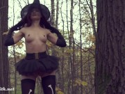 Undress the Witch. Horror erotic video