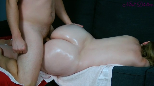stepmom wants ass massage  I take this opportunity to fuck her big booty!