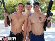 Three Hot Military Hunks Fuck Like No Tomorrow - ActiveDuty