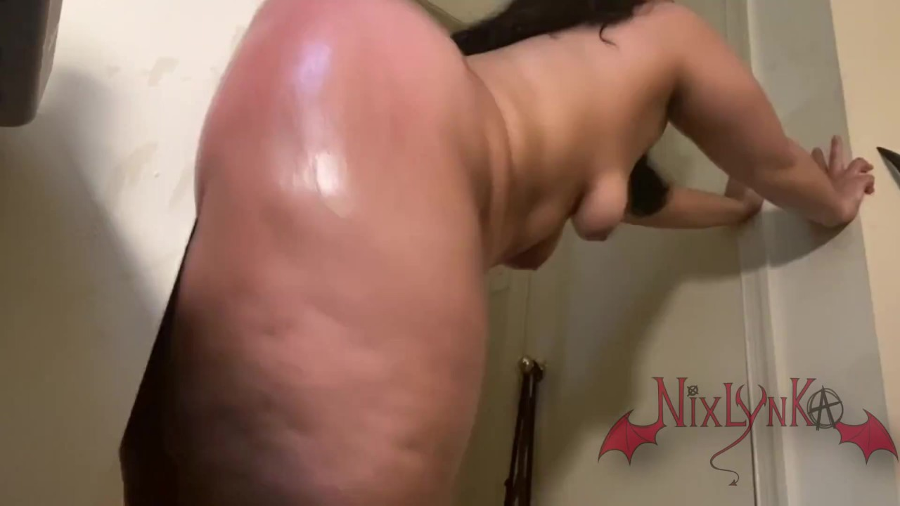 Painful Anal Fat Ass Latina Throwing It Back On Wall Dildo -1315