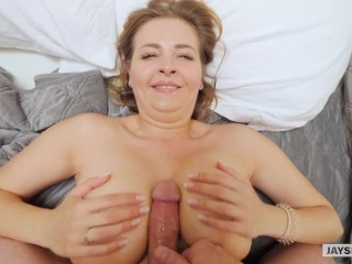 Jays Pov - Horny Hot Milf With Huge Natural Boobs - Candy Alexa 34 Triple D'
