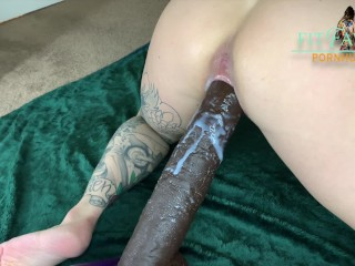 Tiny Tattooed Babe Fucked by Huge Cock, wet creampie – FITFAWNX