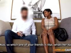 Amateur ebony slut bouncing hard on big cock