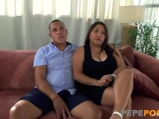 Big titted latina wife loves being drilled for us to see!