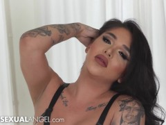 TranssexualAngel - Exotic Trans Babe Jane Marie Takes Dick