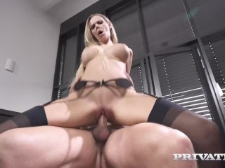 Private com – Cuckold Cock Watches Florane Russell Get Her Ass Fucked!