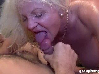 Mature Blonde meats the Guys