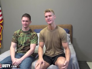 Army Cadet Sucks Dick For The First Time