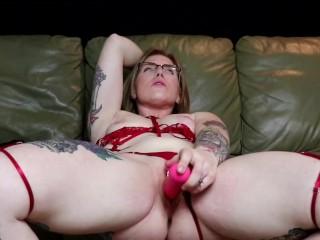 Ametuer milf masturbates until pussy cums. Mutiple solo female orgasm. Loud moaning and dirty talk.