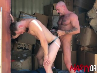 Bearded Gay Ravaged By Daddy After BJ