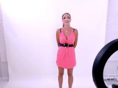 Sexy italian woman sucks big dick in Los Angeles at Audition POV