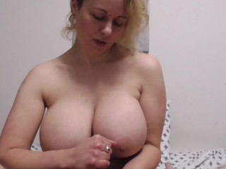 SPH Handjob with Huge Tits and a Ruined Orgasm