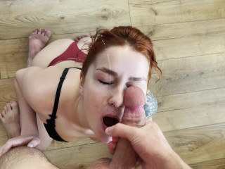 Attractive Wife Likes Cowgirl position, Deepthroating and Huge Facial KleoModel
