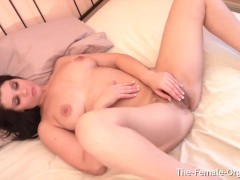 Incredible British Babe with Hairy Pussy and Awesome Body Masturbates To Orgasm