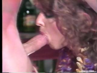 Classic Pornstars Kirsta Lane and Tom Brandy Fuck Behind Bar