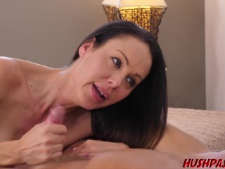 MILF McKenzie and her giant boobs take a good pussy stuffing