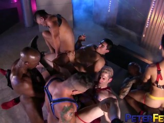Muscular Gays Anal Fucking In Wild Orgy
