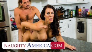 Naughty America - Reagan Foxx has her eye on her sons s friend and sees her chance to let him know.