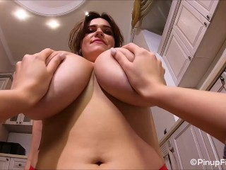 Watch Jenny Oops so hot getting her huge boobs a massage in focus