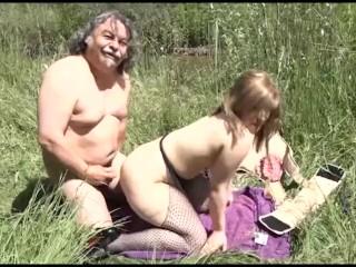 Outdoor sex for horny pilgrims