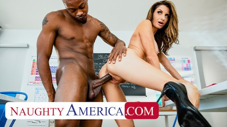 Naughty America - Silvia Saige gets fucked by a BBC
