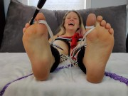 Tickling and Torment - Barefoot Bombshell's First Bastinado Compilation