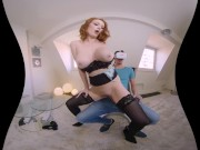 Stepmom rides your cock while you watch VR porn