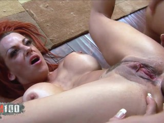 Redhead sult with big boobs deep anal sex