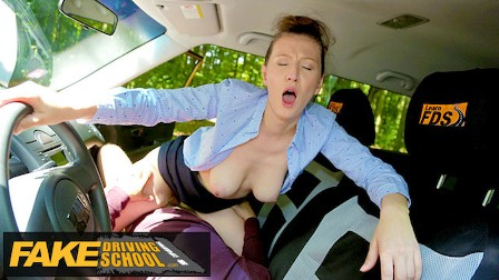 Fake Driving School Emylia Argan Demands That Her Tight Pussy Is Swallowing To Calm the pussy