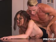 PRIVATE com - Busty Brunette Step Sister Natali Ruby Milks Bro's Big Dick!