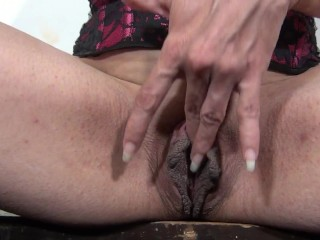Rubbing My Meaty Pussy With a Nice Cock in My Mouth