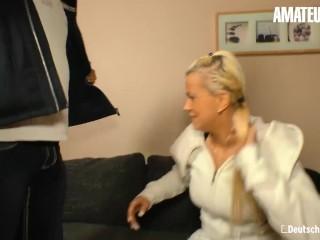 DeutschlandReport – Sandy Fire Horny German Blonde Hardcore Pussy Fuck With Stranger – AMATEUREURO