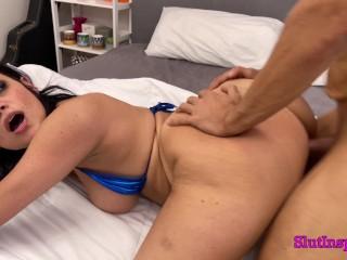 Busty Iranian Slut Fucks My Husband While I Film