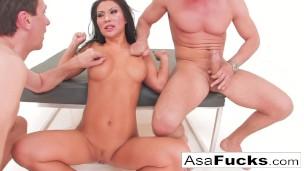 Asa Akira's Double Penetration!