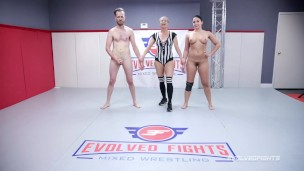 Sheena Ryder Takes Cock In The Ass And Pussy After Naked Wrestling Fight Vs Chad Diamond